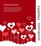 background with growing hearts | Shutterstock .eps vector #55068991