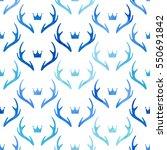 seamless pattern with deer... | Shutterstock .eps vector #550691842