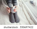 close up of woman feet and... | Shutterstock . vector #550697422