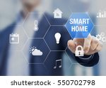 smart home automation concept... | Shutterstock . vector #550702798