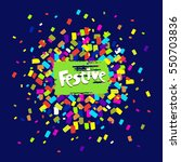 colorful celebration background ... | Shutterstock .eps vector #550703836