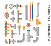 pipes vector icons isolated. | Shutterstock .eps vector #550708582