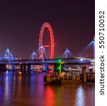 Hungerford Bridge And River...