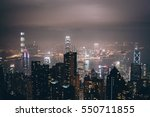 hongkong night view from... | Shutterstock . vector #550711855