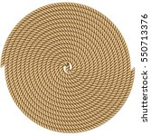 coiled rope in circle  pattern... | Shutterstock .eps vector #550713376