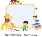 children and frame | Shutterstock .eps vector #55071376