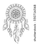 hand drawn dreamcatcher  ... | Shutterstock .eps vector #550716568