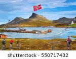 norway landscape and leisure... | Shutterstock .eps vector #550717432