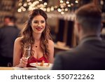 couple celebrate valentine's... | Shutterstock . vector #550722262