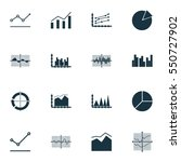 set of graphs  diagrams and... | Shutterstock .eps vector #550727902