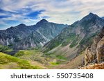 view from sports pass mountain. ... | Shutterstock . vector #550735408