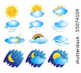 set icons with the phenomena of ... | Shutterstock .eps vector #55074109