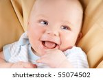 portrait of cute happy blue... | Shutterstock . vector #55074502