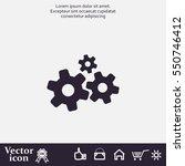 settings icon vetor | Shutterstock .eps vector #550746412
