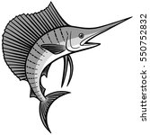 sailfish illustration | Shutterstock .eps vector #550752832