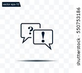 question and answer marks with... | Shutterstock .eps vector #550753186