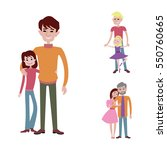 father kids family son and... | Shutterstock .eps vector #550760665