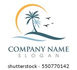 Palm Tree Summer Logo Template...