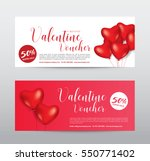 happy valentine day  gift... | Shutterstock .eps vector #550771402
