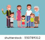 cheerful happy big family  mom  ... | Shutterstock .eps vector #550789312
