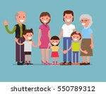 happy big family  mom  dad  son ...   Shutterstock .eps vector #550789312