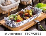 Baked Meat With Vegetables In...