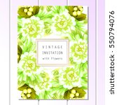 vintage delicate invitation... | Shutterstock .eps vector #550794076