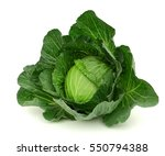 ripe cabbage isolated on white | Shutterstock . vector #550794388