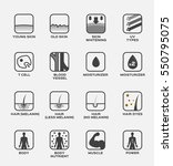 collagen   skin and hair icon...   Shutterstock .eps vector #550795075
