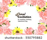 abstract flower background with ... | Shutterstock .eps vector #550795882