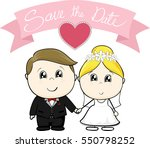 cute young groom and bride in... | Shutterstock .eps vector #550798252