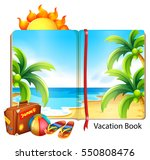 vacation on the beach theme in... | Shutterstock .eps vector #550808476
