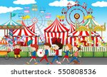many children at the carnival... | Shutterstock .eps vector #550808536