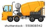 cement truck in yellow color... | Shutterstock .eps vector #550808542