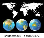 geography theme with world... | Shutterstock .eps vector #550808572