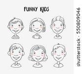 funny kids   Shutterstock .eps vector #550809046