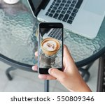close up hand using phone... | Shutterstock . vector #550809346