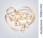 gold ribbon of valentines day... | Shutterstock .eps vector #550811452