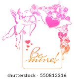 cupid with bow hunting for... | Shutterstock . vector #550812316