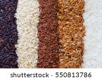 organic rice  mixed rice and... | Shutterstock . vector #550813786