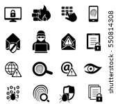 cybersecurity  virus  malware... | Shutterstock .eps vector #550814308