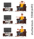 set character man sitting in a... | Shutterstock .eps vector #550816492
