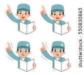 set of pointing young man | Shutterstock .eps vector #550830865