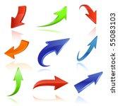 arrow icon set | Shutterstock .eps vector #55083103