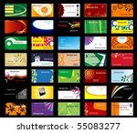 set of various business cards.... | Shutterstock .eps vector #55083277