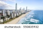aerial view of surfers paradise ... | Shutterstock . vector #550835932