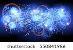 vector holiday firework.... | Shutterstock .eps vector #550841986