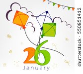creative text of 26th january... | Shutterstock .eps vector #550851412