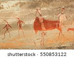 Bushmen  San  Rock Painting Of...