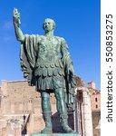 bronze statue of emperor nerva...   Shutterstock . vector #550853275